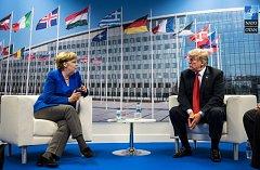 Donald Trump a Angela Merkelová
