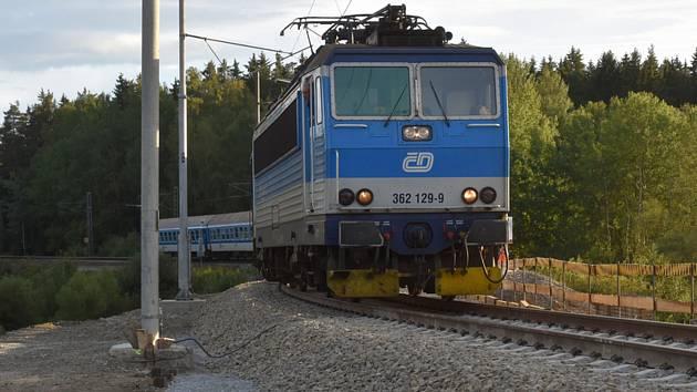 Vlak Českých drah  - ilustrační foto.