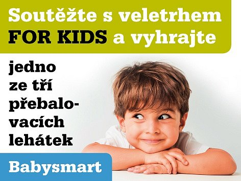 Soutěžte s veletrhem FOR KIDS a vyhrajte jedno ze tří přebalovacích lehátek.