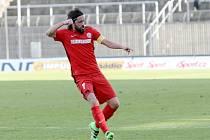 Pavel Zavadil z Brna se raduje z gólu proti Zlínu.