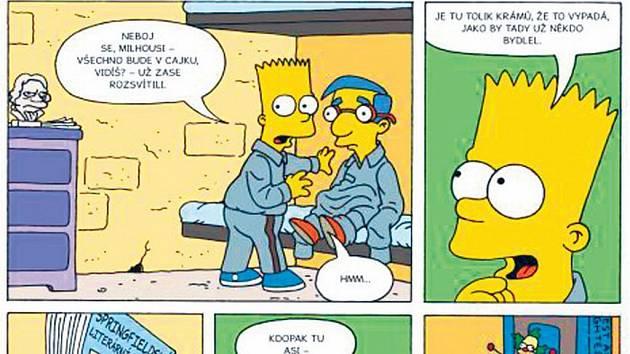 Žlutá síla útočí: Simpsonovi jako komiks