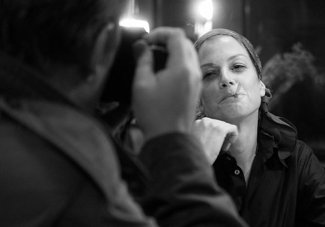 Marie Bäumer jako Romy Schneider ve filmu 3 dny v Quiberonu