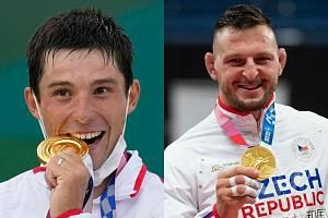 Čeští olympijští vítězové - kajakář Jiří Prskavec (vlevo) a judista Lukáš Krpálek - na kombinovaném snímku z 30. července 2021.
