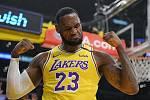 Basketbalista Los Angeles Lakers LeBron James.
