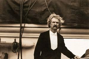 Americký spisovatel Mark Twain na cestě do Evropy.