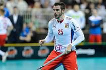 Tom Ondrušek při utkání s domácími Lotyši.
