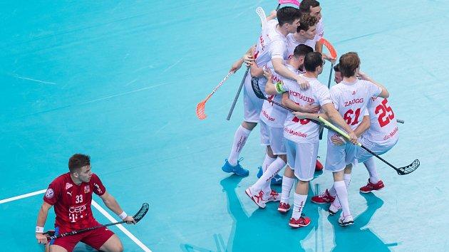 Česko proti Švýcarsku v utkání o bronz.