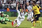 Aubameyang dává šestý gól Dortmundu