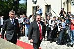 Premiér Andrej Babiš a Mike Pompeo
