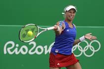 Andrea Hlaváčková ve čtvrtfinále čtyřhry na olympijských hrách v Riu.