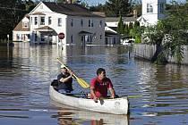 Záplavy ve městě Manville v americkém státě New Jersey, 2. září 2021