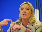 Šéfka krajně pravicové Národní fronty Marine Le Penová.