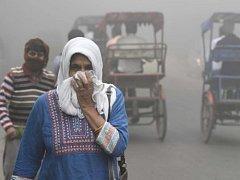 Znečištěné ovzduší v Dillí.