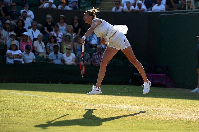 Petra Kvitová na Wimbledonu 2017.