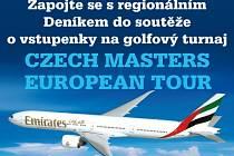 Zapojte se s regionálním Deníkem do soutěže o vstupenky na golfový turnaj CZECH MASTERS EUROPEAN TOUR, který se koná dne 21. až 24.8.2014 na hřišti Albatross Golf Resort nedaleko Prahy.