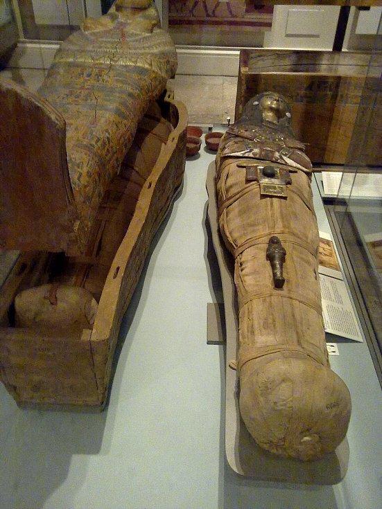 Katebetská mumie, jak jsou pojmenovány ostatky staré egyptské ženy, je uložena v Britském muzeu.