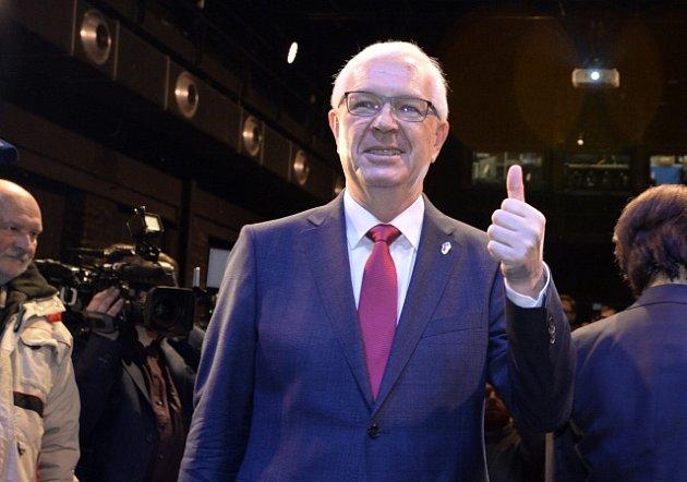 Volební štáb Jiřího Drahoše při prvním kole prezidentských voleb