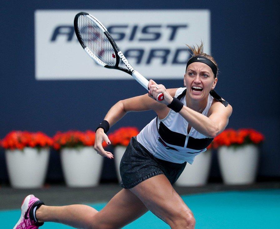 Tenistka Petra Kvitová na turnaji v Miami