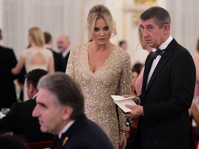 Ministr financí Andrej Babiš s manželkou Monikou.