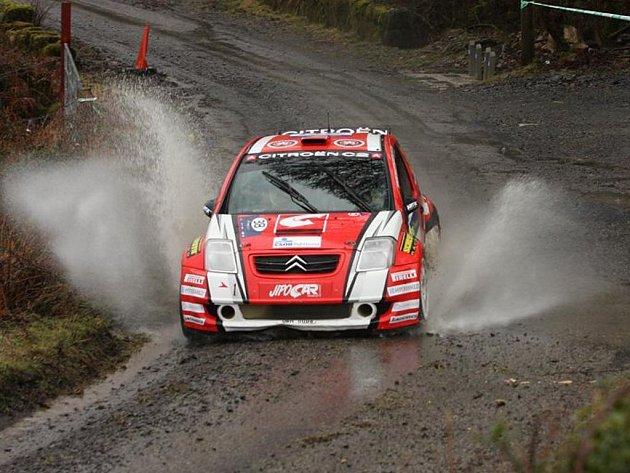 Martin Prokop na trati Irské rallye.
