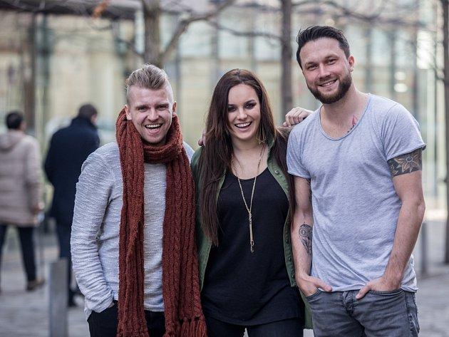 Petr Harazin, Ewa Farna a Czenda Urbánek.