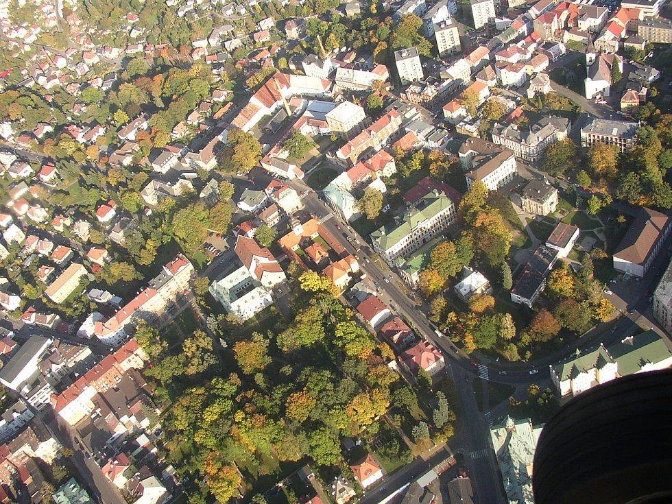 Loreta v Rumburku na leteckém snímku