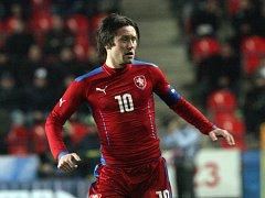 Tomáš Rosický v zápase proti Norsku