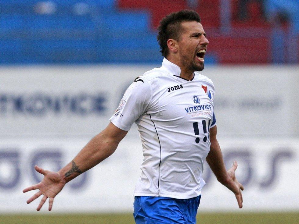 Baník Ostrava - Sparta: Milan Baroš a jeho radost z gólu