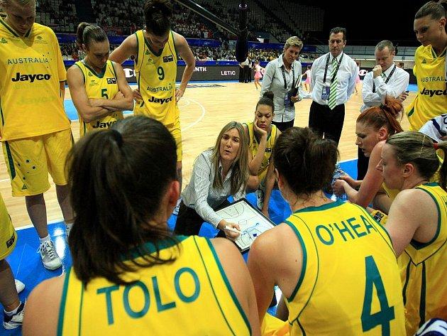 Favorizované basketbalistky Austrálie na MS v Ostravě.