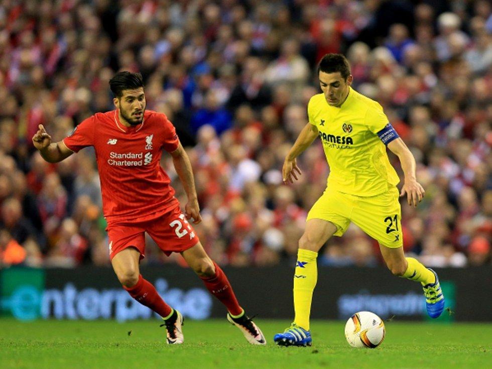 Emre Can z Liverpoolu (vlevo) a Bruno z Villarrealu.