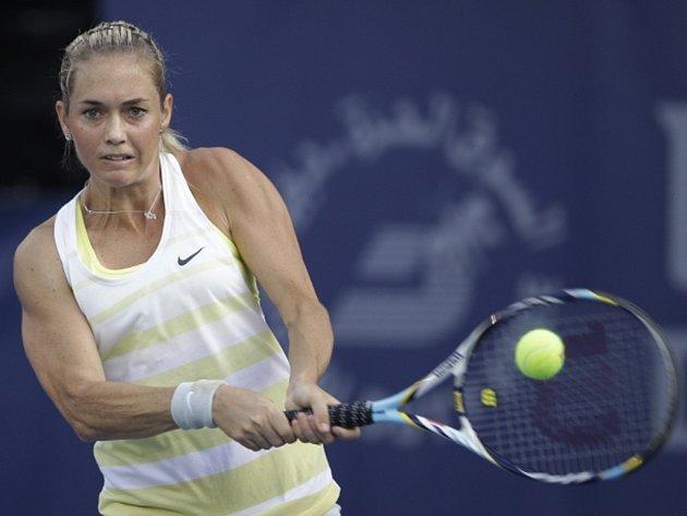 Klára Zakopalová na turnaji v Dubaji.