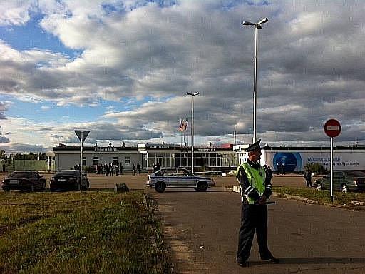 Vyšetřování na letišti v Jaroslavli. Ilustrační foto