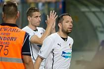 Pavel Horváth z Plzně (vpravo) po zápase s FC Petrolul Ploješť.