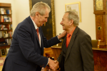 Prezident Miloš Zeman a předseda Senátu Jaroslav Kubera