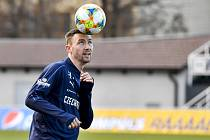 Fotbalový záložník Jaromír Zmrhal na snímku z tréninku české fotbalové reprezentace z 18. března 2019.