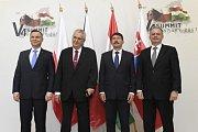 Andrzej Duda, Miloš Zeman, János Áder, Andrej Kiska