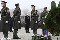 Premiér Andrej Babiš během pietního shromáždění k výročí vzniku samostatného Československa na pražském Vítkově, 28. října 2021