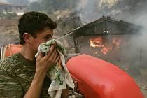 Řecko v plamenech