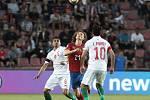 Kvalifikační zápas ME 2020 ve fotbale mezi Českem a Bulharskem na Letné.