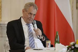 Prezident Miloš Zeman na Pražském hradě. Ilustrační snímek