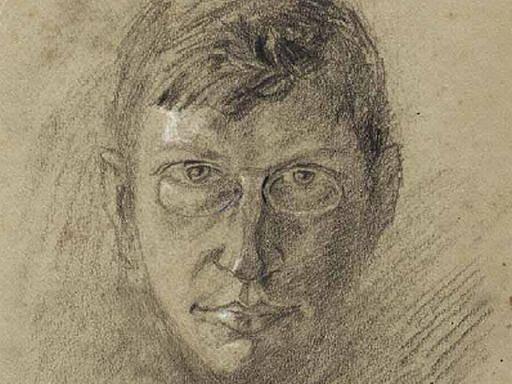 Portrét Bohuslava Reynka od jeho přítele Libry.