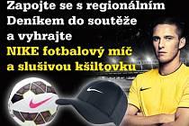Zapojte se s regionálním Deníkem do soutěže a vyhrajte NIKE fotbalový míč a slušivou kšiltovku