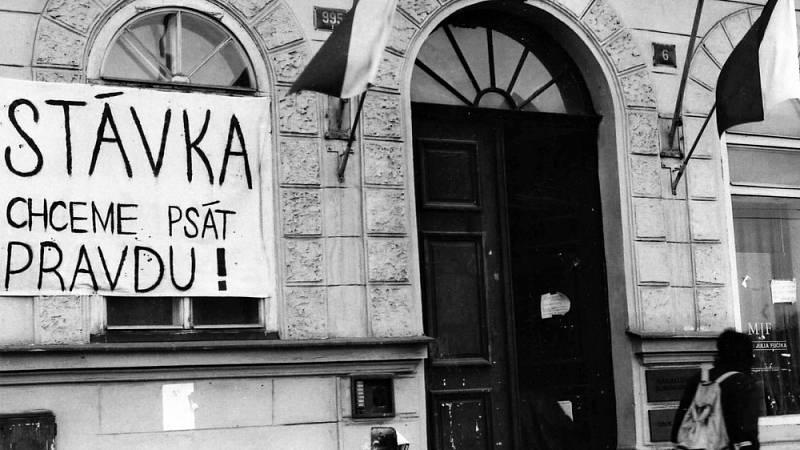 Stávka na fakultě žurnalistiky, listopad 89
