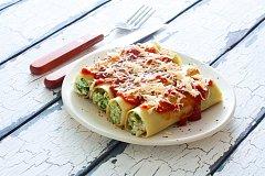 Cannelloni plněné špenátem a ricottou