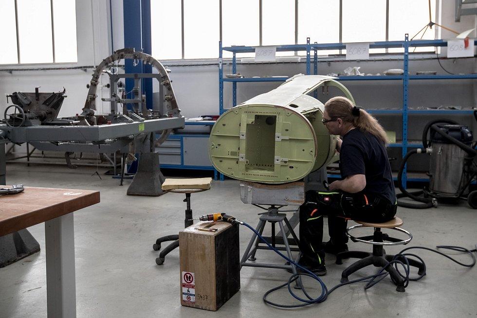 Aero Vodochody představilo 27. února novinářům novou výrobní linku pro výrobu letounu L-39NG.