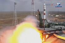 Start Sojuzu k ISS
