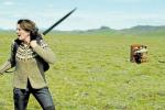 Žena na válečné stezce. Vtipnou ekoteroristku ztvárňuje Halldóra Geirharðsdóttir.