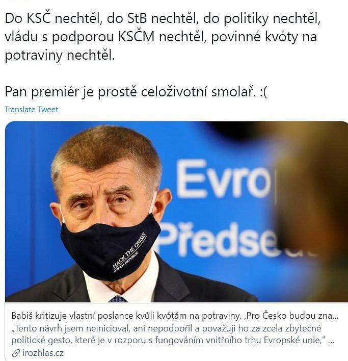 Trochu trpké vtipkování vyvolaly i výroky Andreje Babiše, že si zákon, jímž poslanci jeho hnutí přihráli větší zisky Agrofertu, vlastně nepřál