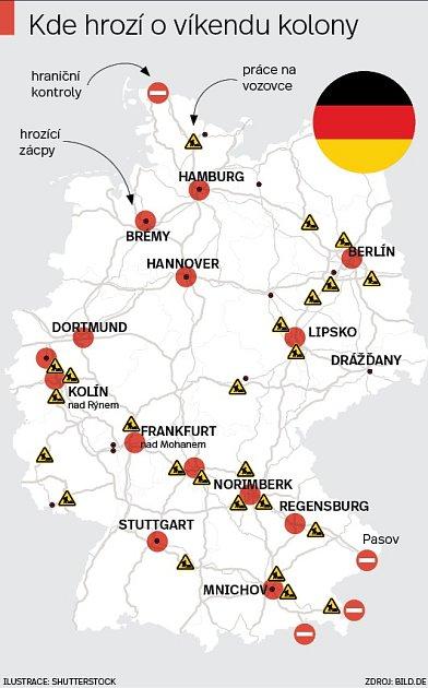 Německo a dálnice - Infografika