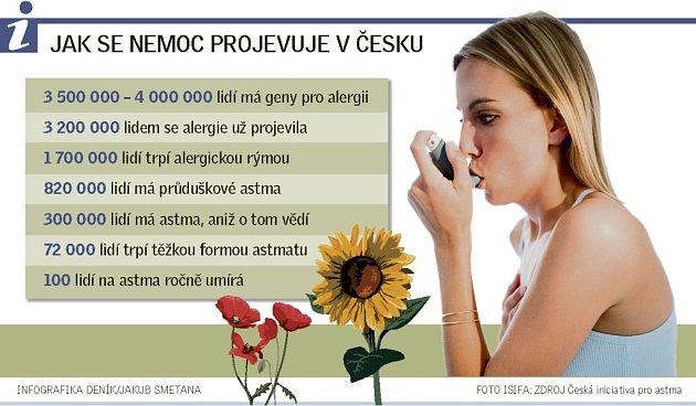 Alergie, astma - Informační grafika